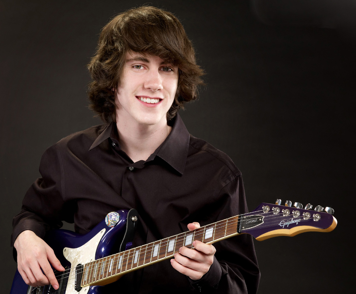 Senior Portrait with Guitar