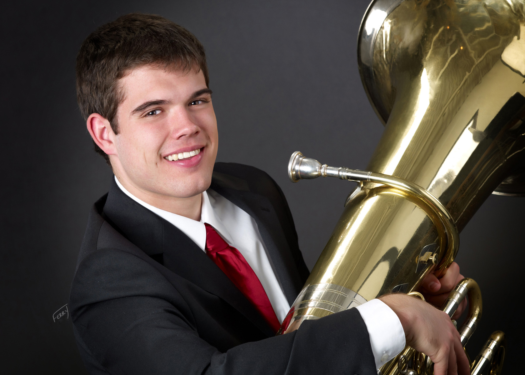 HS Portrait with Tuba