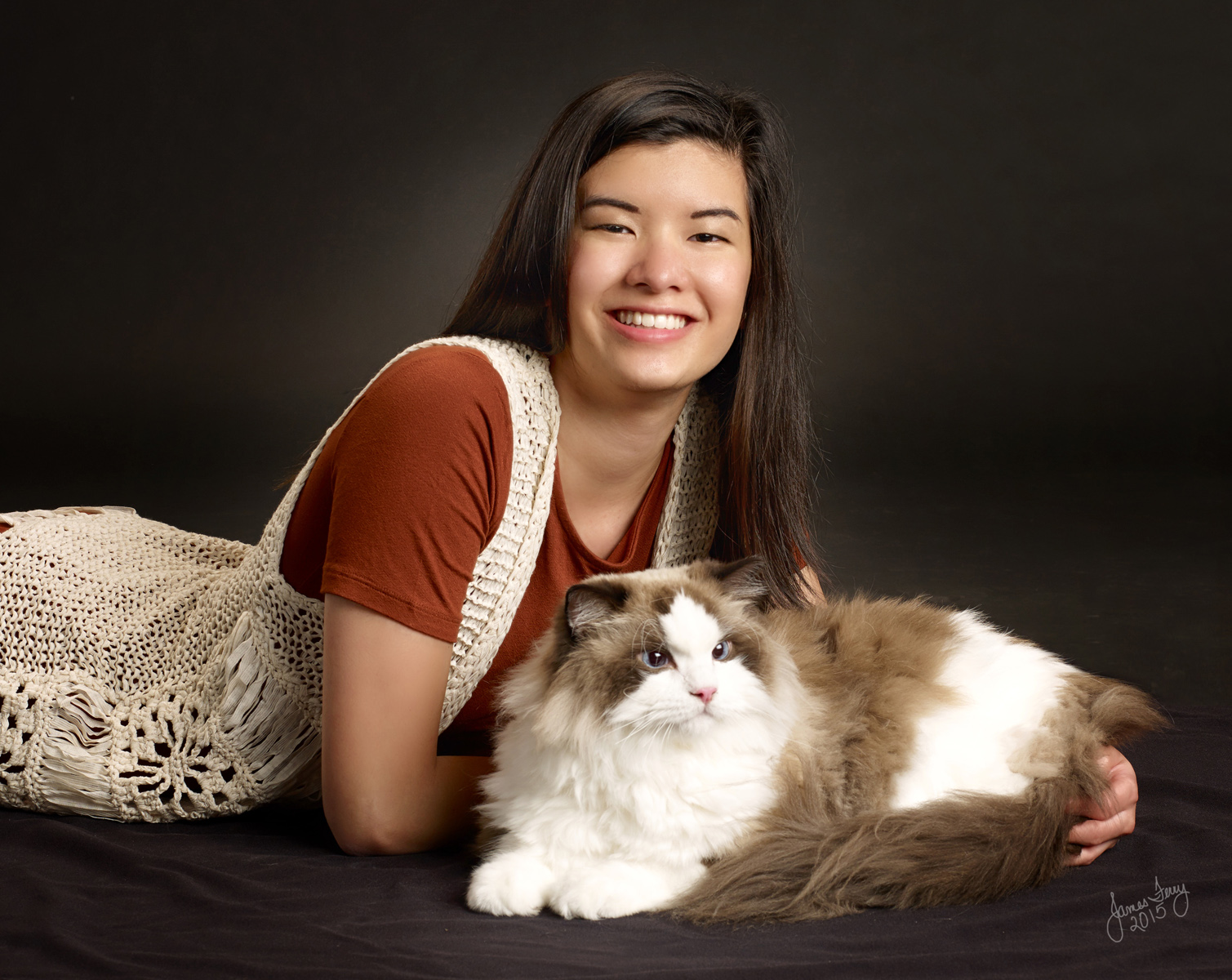 Senior Portrait with pet