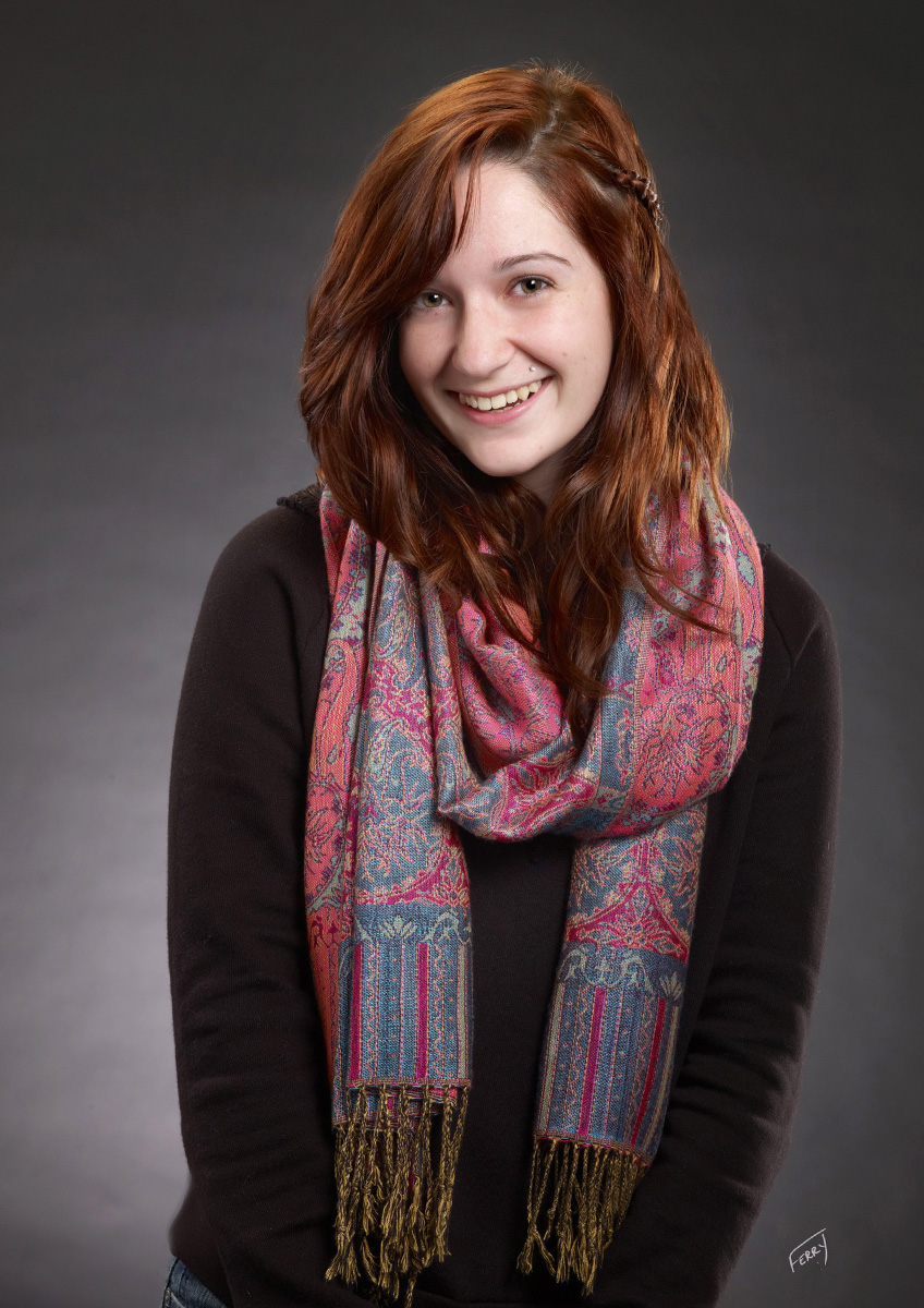 Senior Portrait with Scarf