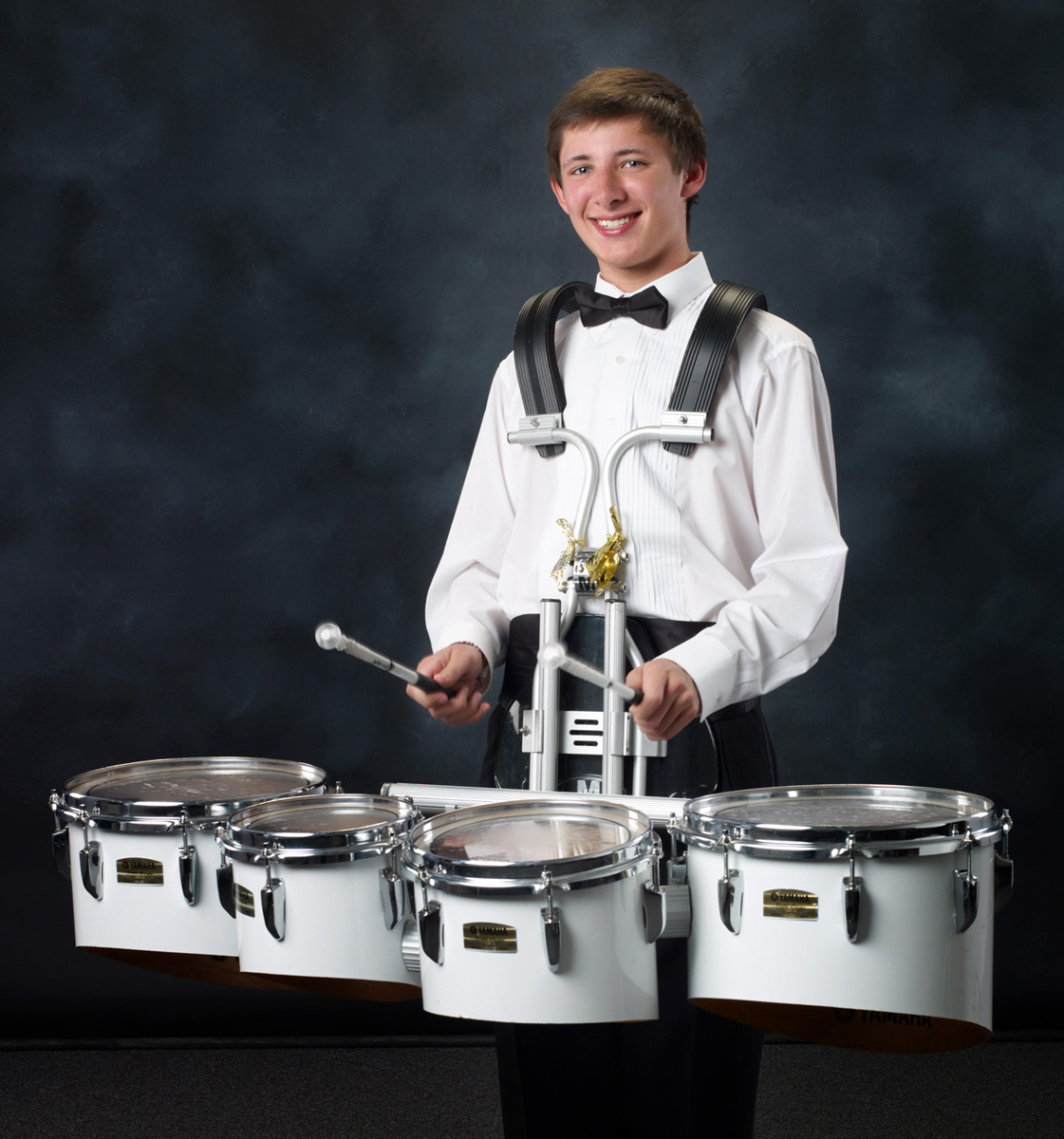 Senior Photo with Drums
